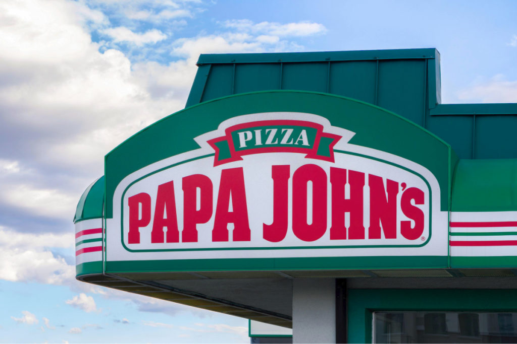 Papa John's vegano