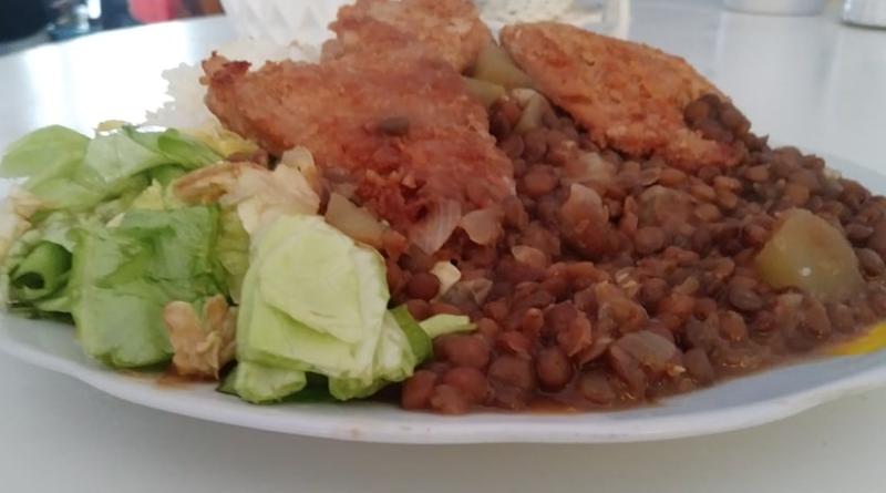 Receta veg: Lentejitas con filete de soya