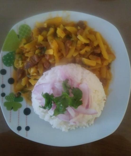 Receta veg: Olluquito con carne de soya